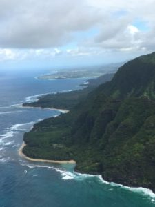 Kauai from the air